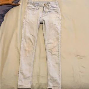 Girls 9/10 skinny Jeans, light wash, H&M